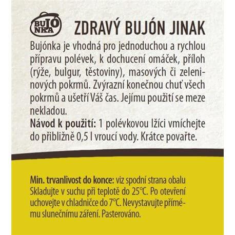 Bujónka zeleninová hrubá 220 g