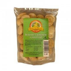 Sušenky s kokosem a jahodami 130 g