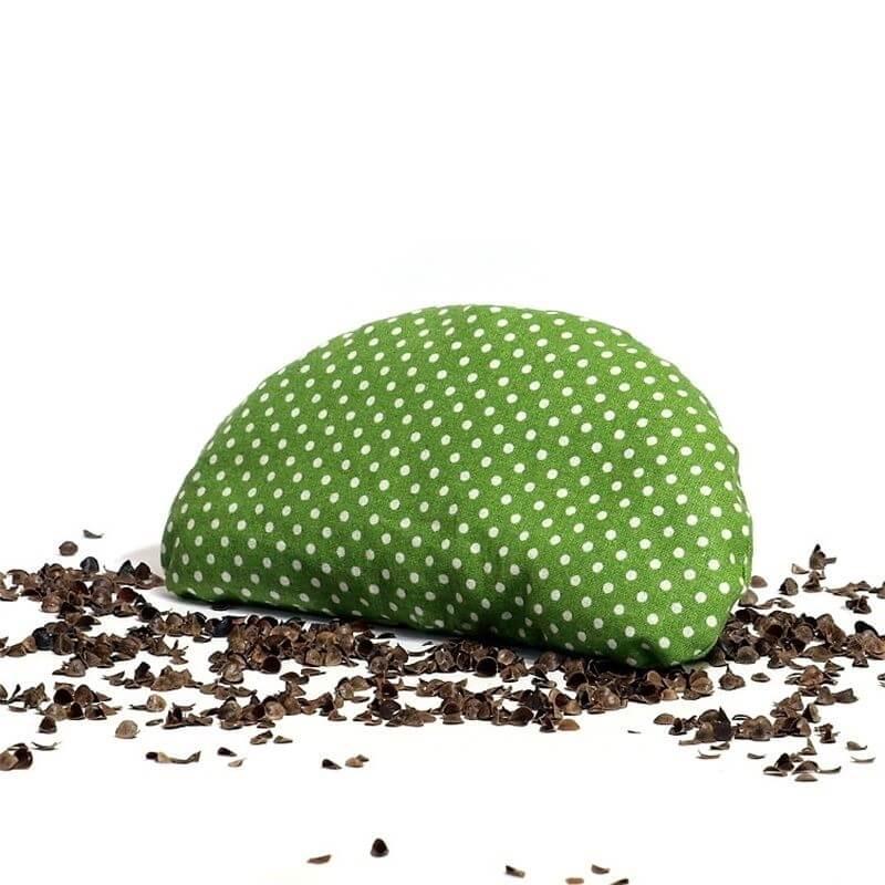 Pohánková podložka pod zápästie zelená