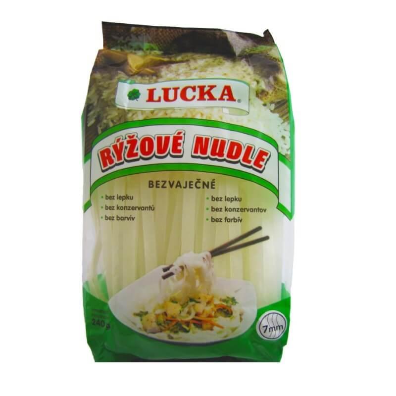 LUCKA rýžové nudle 7 mm 240 g