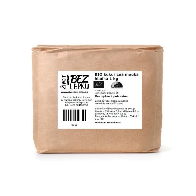 BIO kukuřičná mouka hladká 1 kg