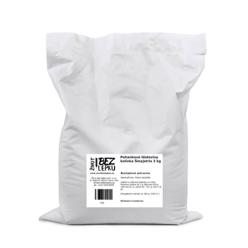 Pohankové těstoviny kolínka Šmajstrla 3 kg