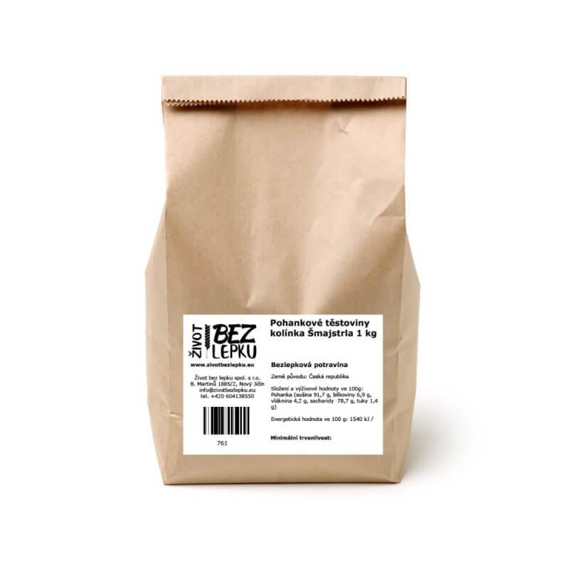 Pohankové těstoviny kolínka Šmajstrla 1 kg