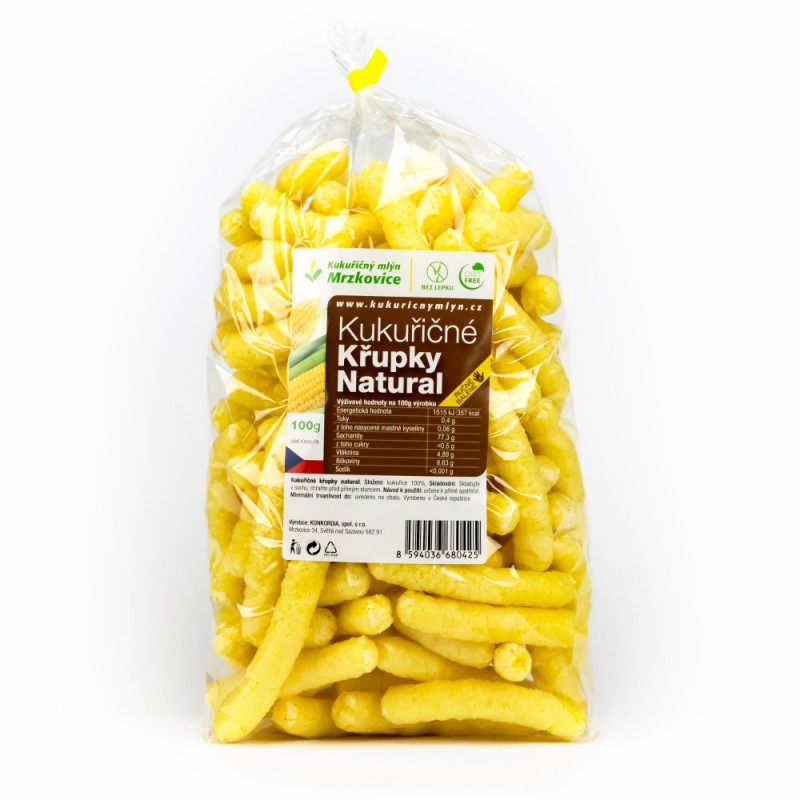 Kukuričné chrumky dlhé natural 100 g