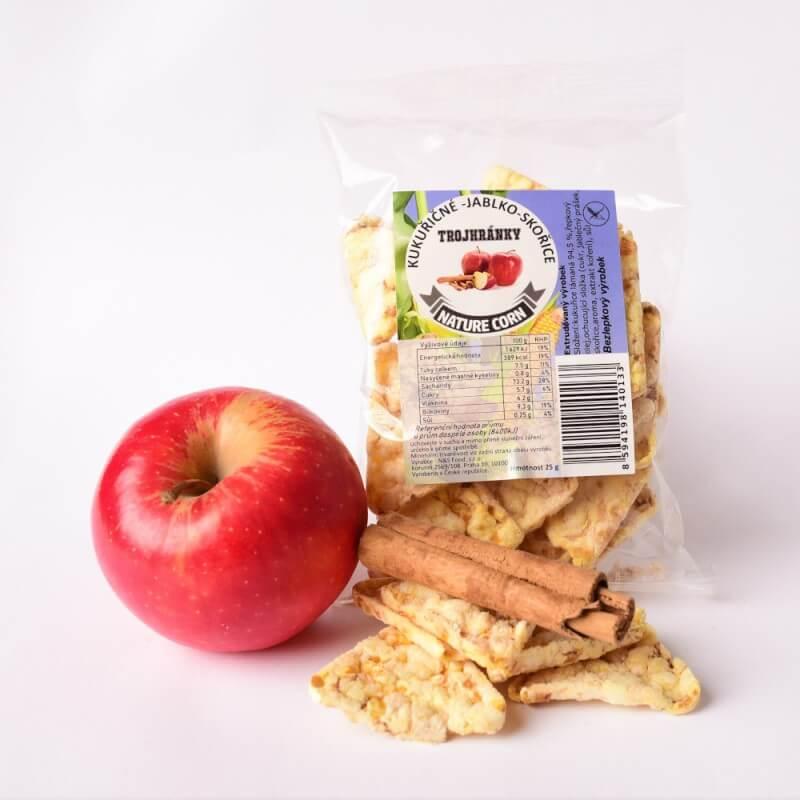 Kukuričné trojhránky jablko - škorica 25 g