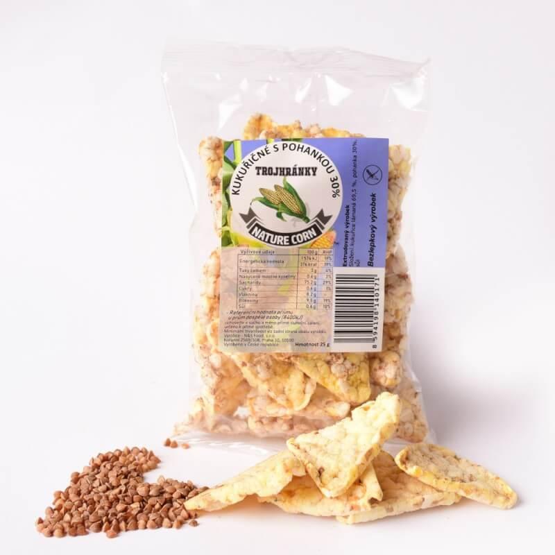 Kukuřičné trojhránky s pohankou 25 g