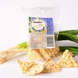 Kukuričné trojhránky smotana - jarná cibuľka 25 g