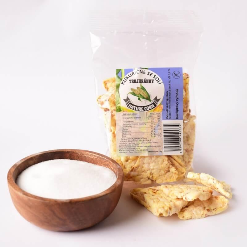 Kukuřičné trojhránky se solí 25 g