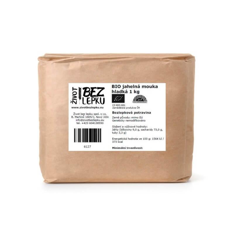 BIO jahelná mouka hladká 1 kg