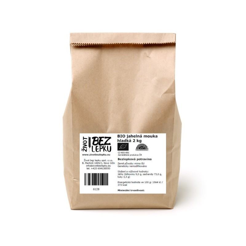 BIO jahelná mouka hladká 2 kg