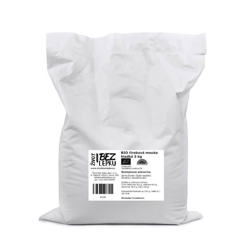 BIO čiroková mouka hladká 5 kg
