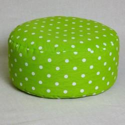 Pohankový meditační sedák 38 x 15 cm zelený puntík