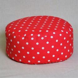 Pohánkový meditačný sedák 38 x 10 cm ružový puntík