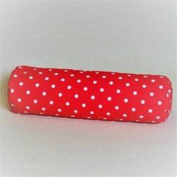 Pohánkový relaxačný valec 15 x 50 cm ružový puntík
