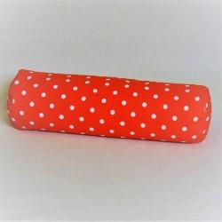 Pohankový relaxační válec 15 x 70 cm červený puntík