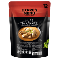 Kuře na paprice 2 porce EXPRES MENU 600 g