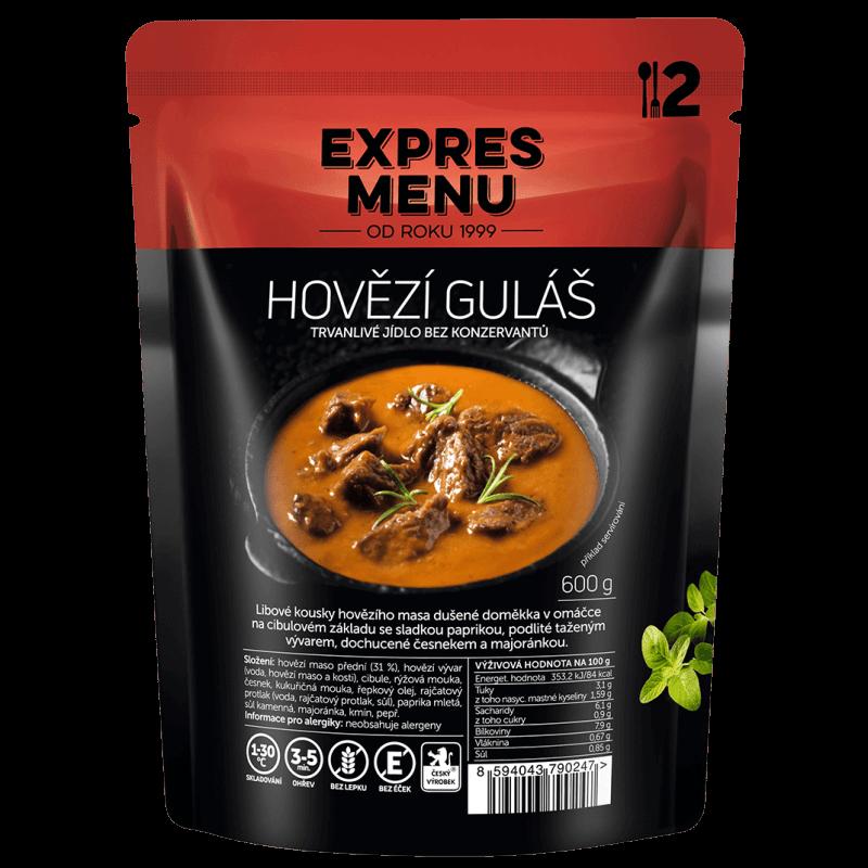 Hovädzí guláš 2 porcie EXPRES MENU 600 g