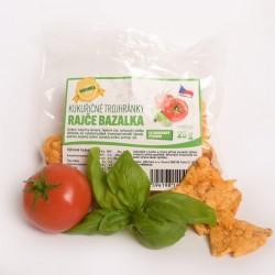 Kukuričné trojhránky paradajka - bazalka 25 g