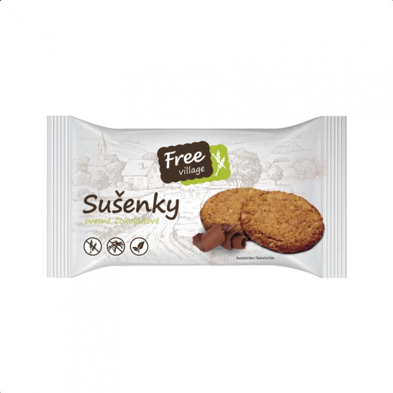 Bezlepkové sušenky ovesné čokoládové 50 g