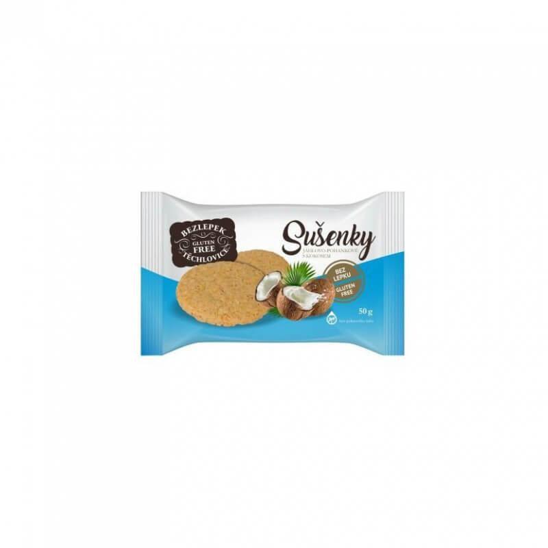 Bezlepkové sušienky pohánkovo-pšenové s kokosom 50 g