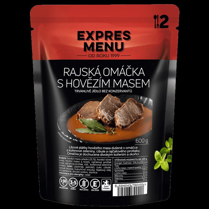 Paradajková omáčka s hovädzím mäsom 2 porcie EXPRES MENU 600 g