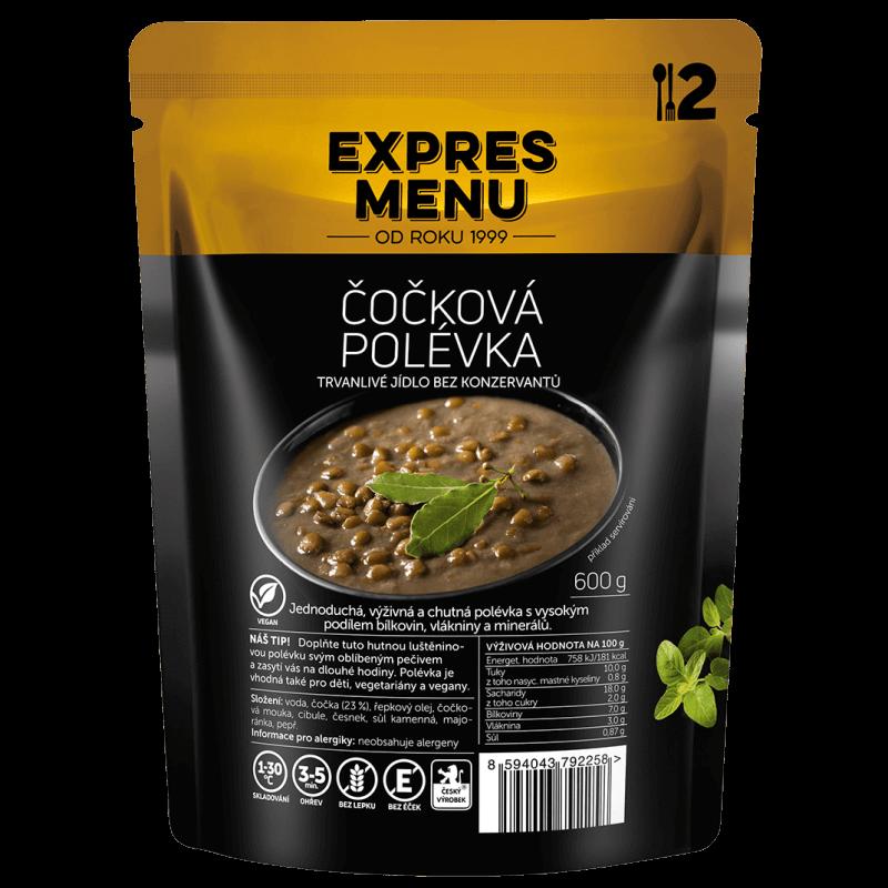 Čočková polévka 2 porce EXPRES MENU 600 g