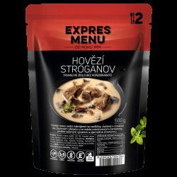 Hovädzí Stroganov 2 porcie EXPRES MENU 600 g