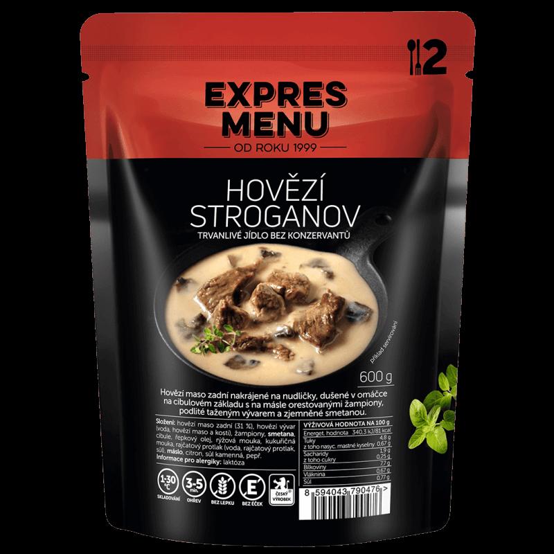 Hovězí Stroganov 2 porce EXPRES MENU 600 g