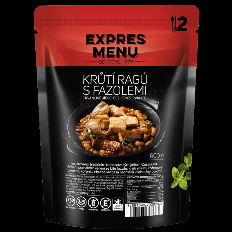 Krůtí ragú s fazuľou 2 porcie EXPRES MENU 600 g
