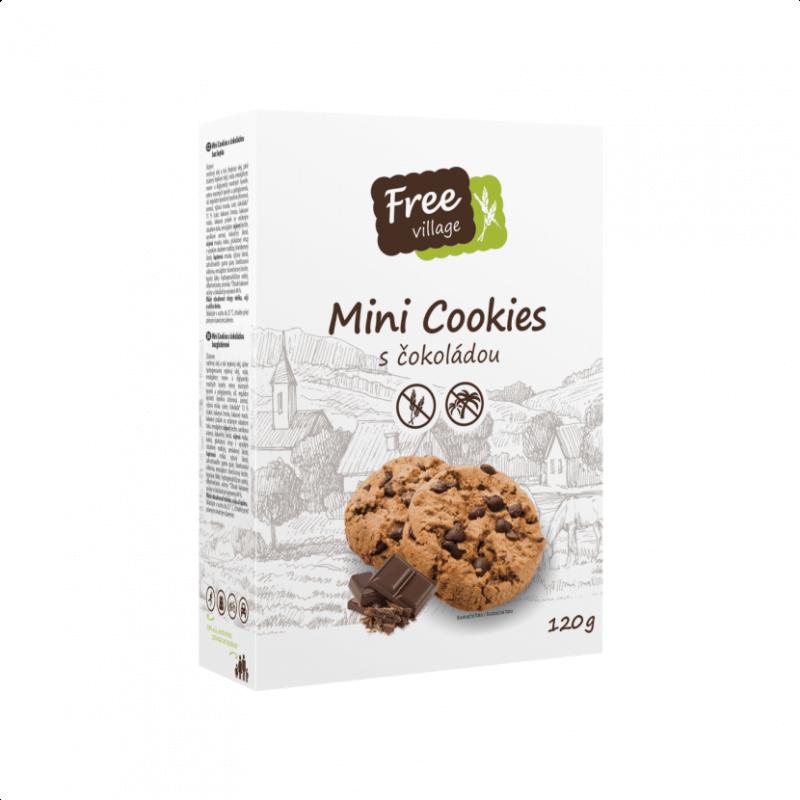 Mini cookies s čokoládou 120g